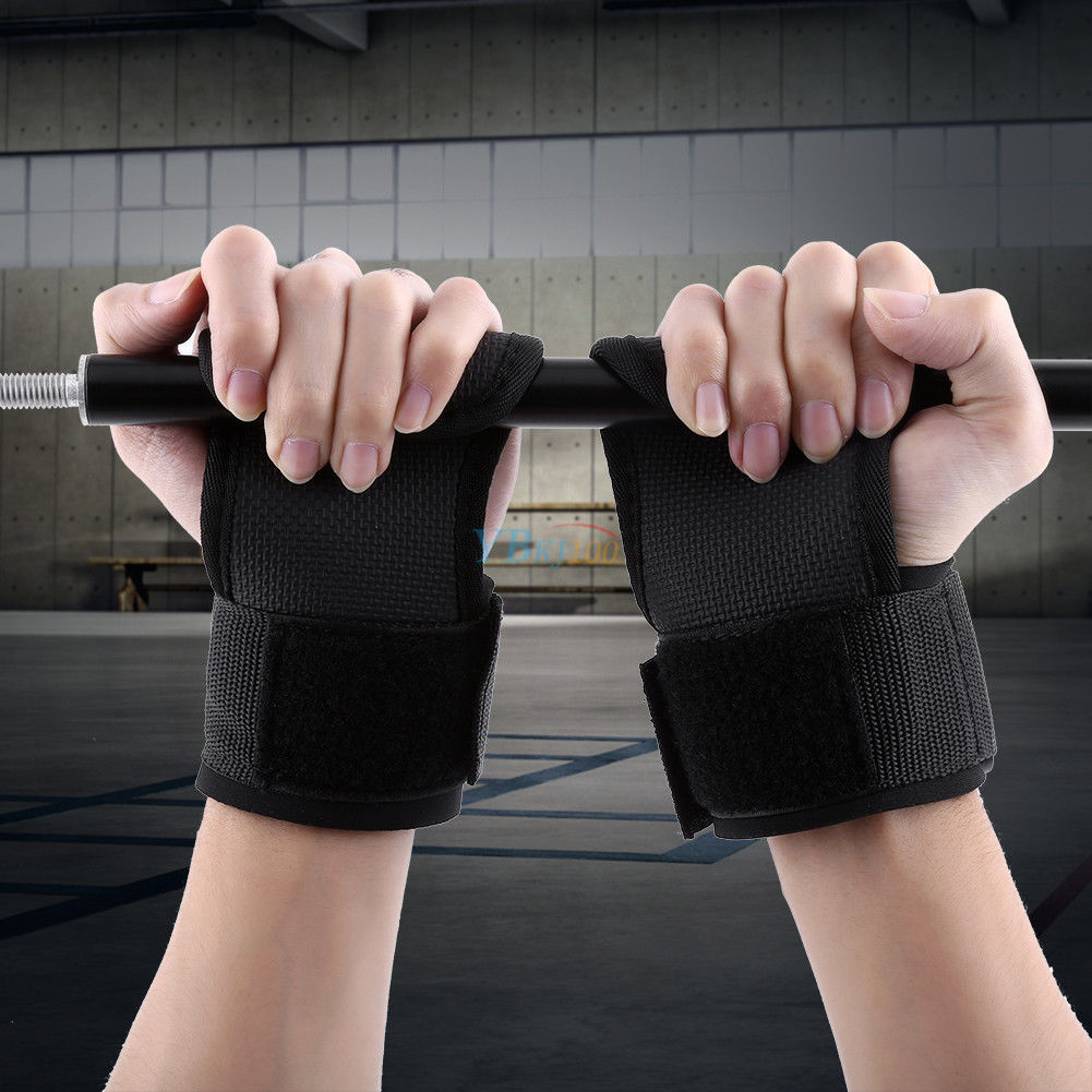 WEIGHT LIFTING GYM BAR STRAPS EXERCISE WRIST SUPPORT GYM GLOVES PRO-GRIP HG-611P