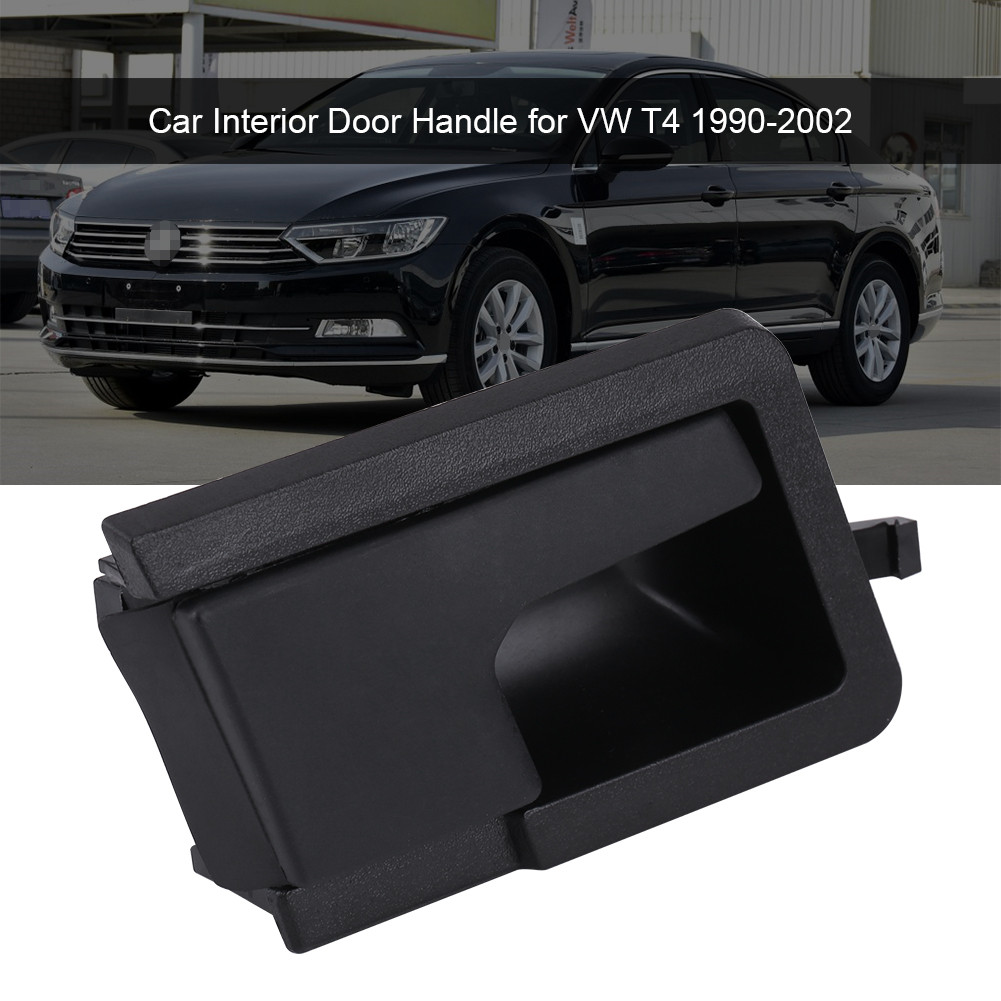 Black Left Inner Door Handle Car Interior Knob For Vw T4 1990 2002