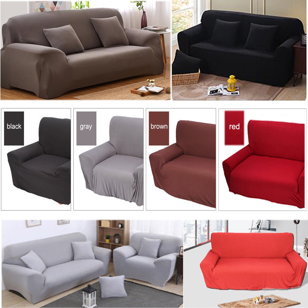 1 2 3 4seater Stretch Fit Elastic Fabric Sofa Cover Couch