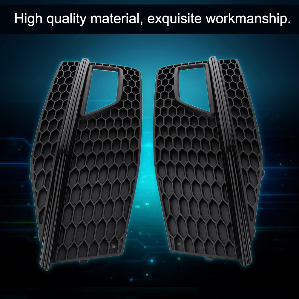 Pair front bumper lower fog light grill grille for audi a4 s line s4 features fandeluxe Gallery