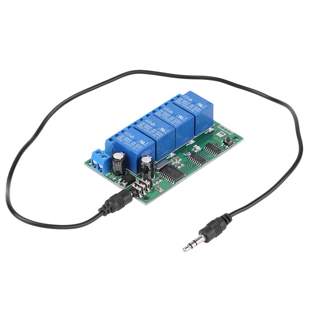 Ad22b04 12v 4ch Mt8870 Dtmf Tone Signal Decoder Relay Phone Remote Telephony Communication Using Mt8870de Control Plc