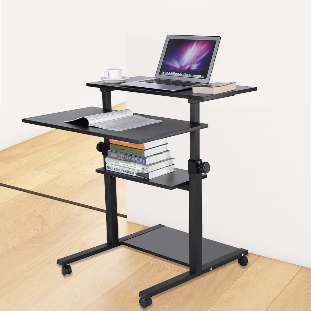 Home Computer Workstation Desk Laptop Table Adjule Height 71 94cm Moving
