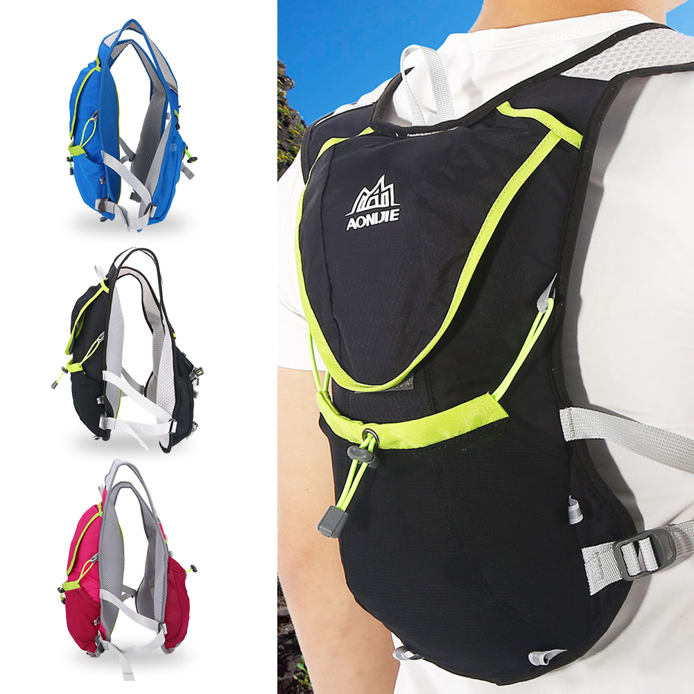 Running Aonijie Cycling Vest Backpack Sports Camping Hydration Water Hat Diving Fabric Rose Bag Pack 8l