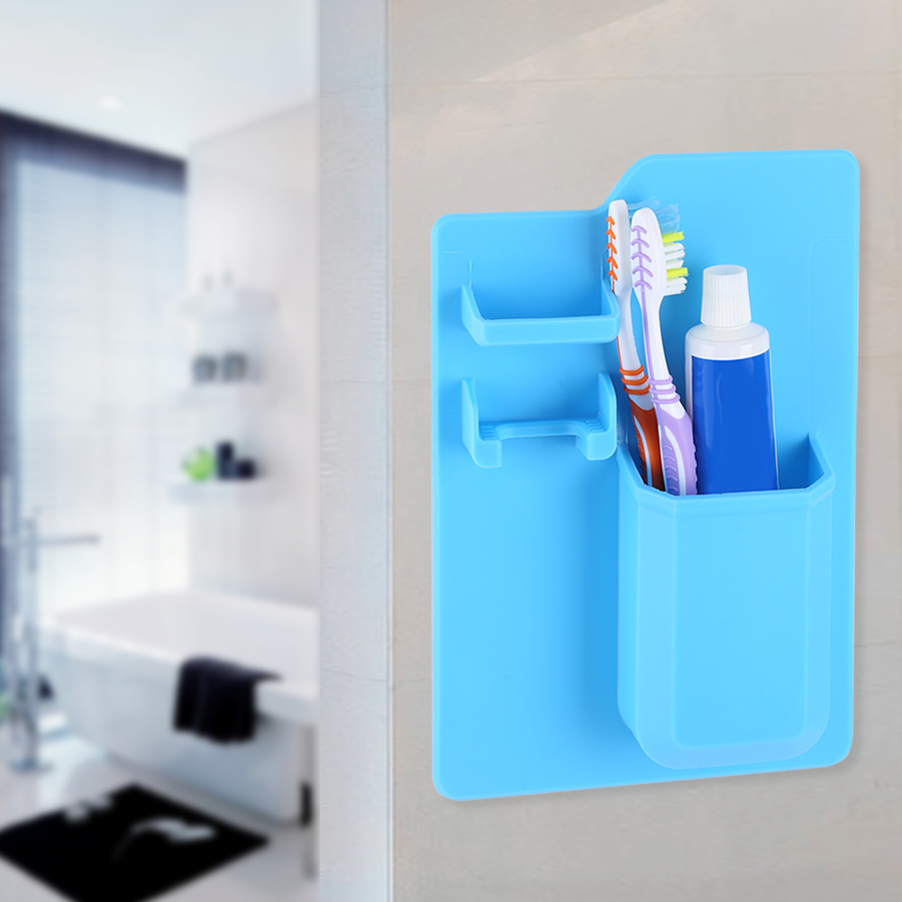 Home Toothbrush Toothpaste Razor Holder Bathroom Organizer Storage ...