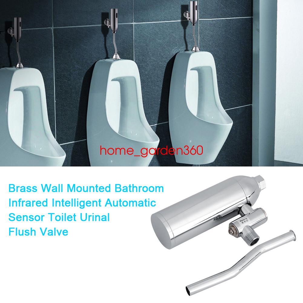 Automatic Urinal Sensor Flush Valve Chrome Bathroom Faucet Tap Wall ...