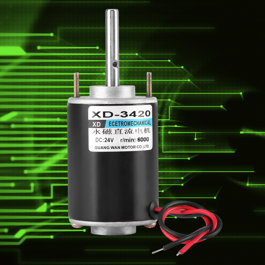 12  24v 30w Permanent Magnet Dc Electric Motor High Speed