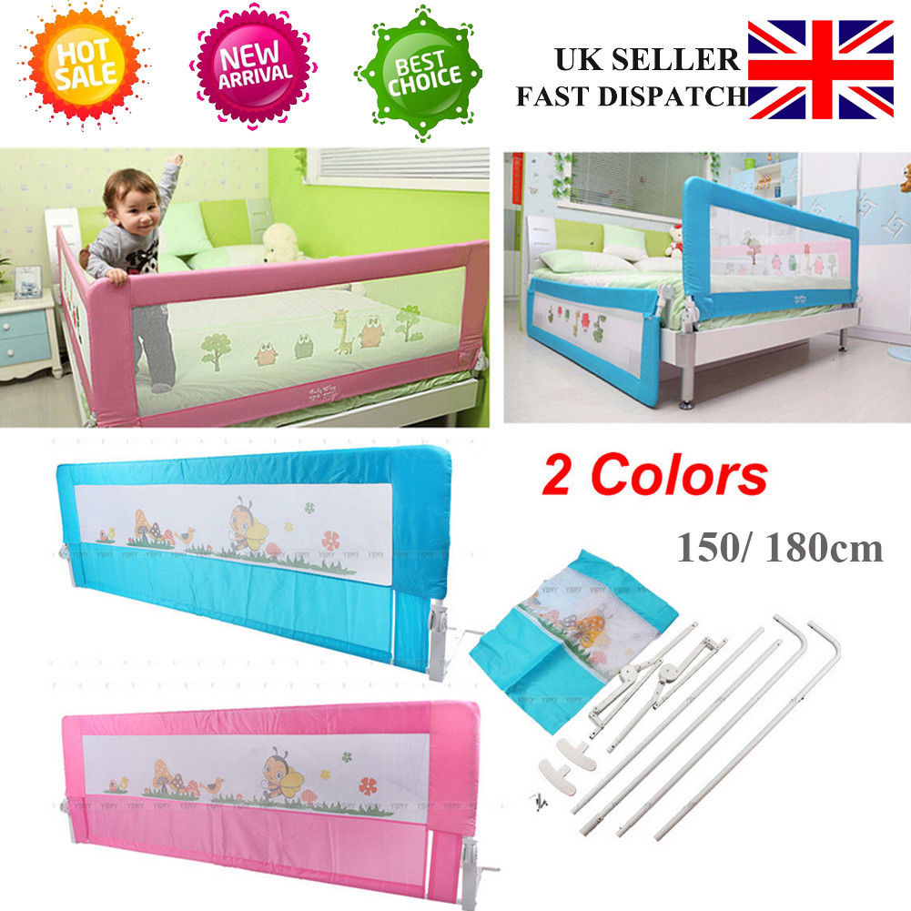 Portable Childs Toddlers Bed Rail Guard Safety Sleep 2 Colors
