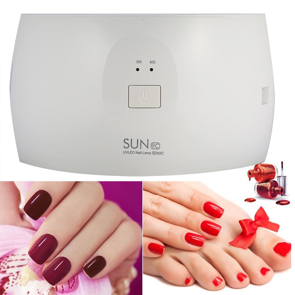 Professional SUN9C 24W UV Lamp Nail Polish Dryer LED Light Drying ...