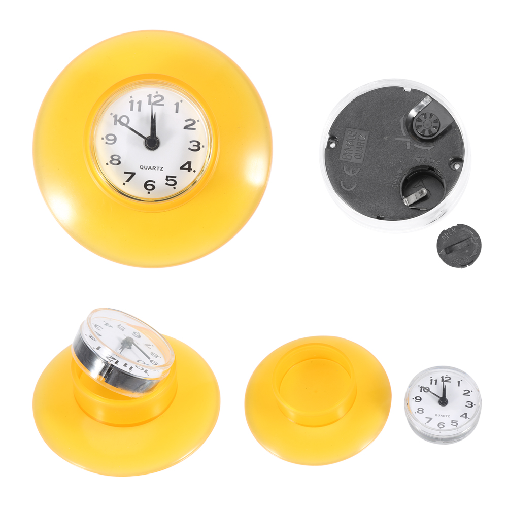 Round Small Wall Clock Suction Cup Quartz Clock Waterproof