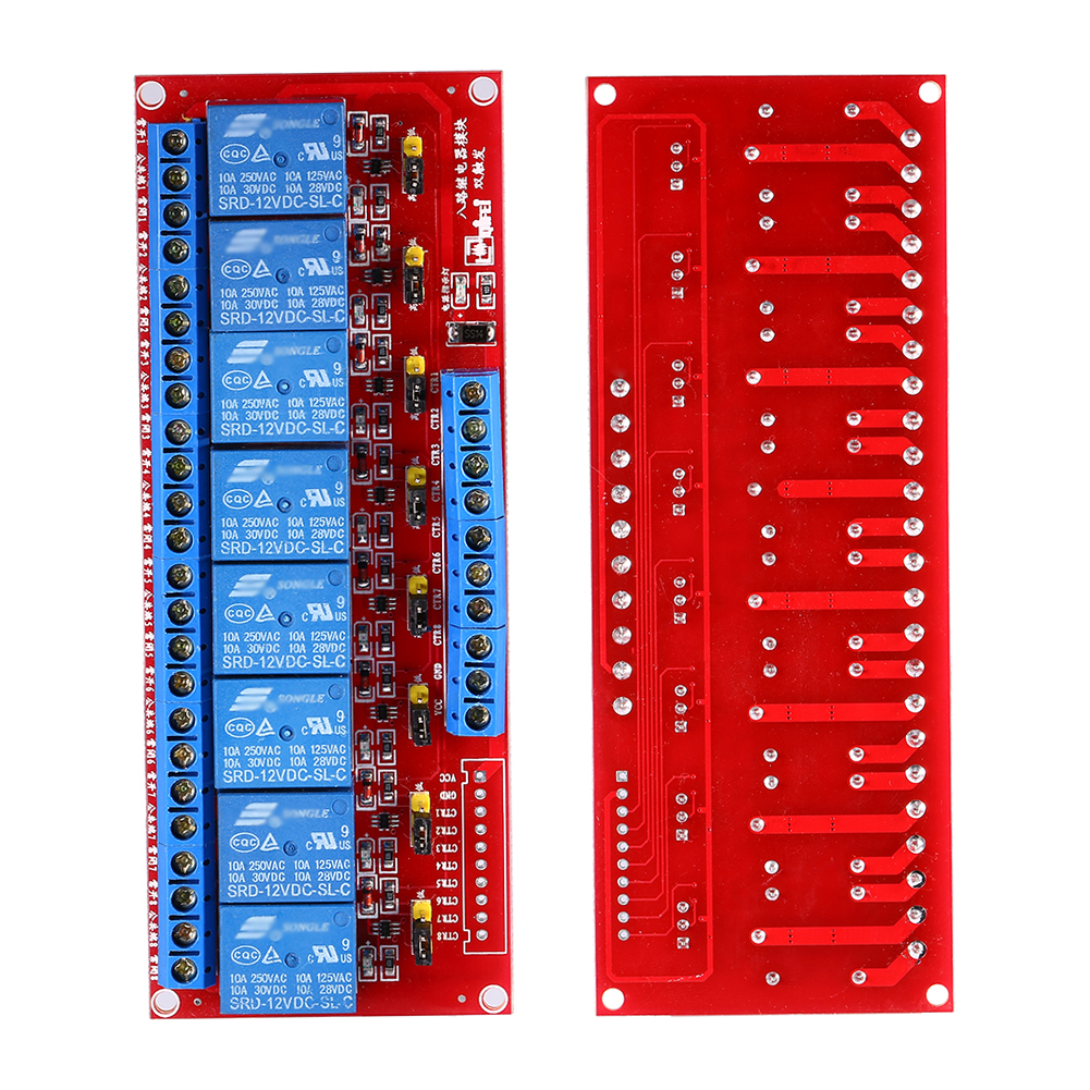 DC 12V 8-CHANNEL HIGH LOW LEVEL DUAL TRIGGER RELAY MODULE ...