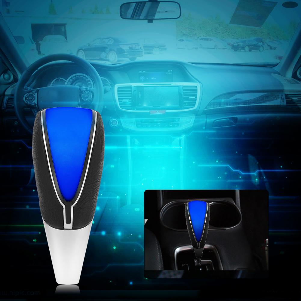 Car Transmission Shift Gear Knob Touch Motion Activated LED Blue Light Shifter