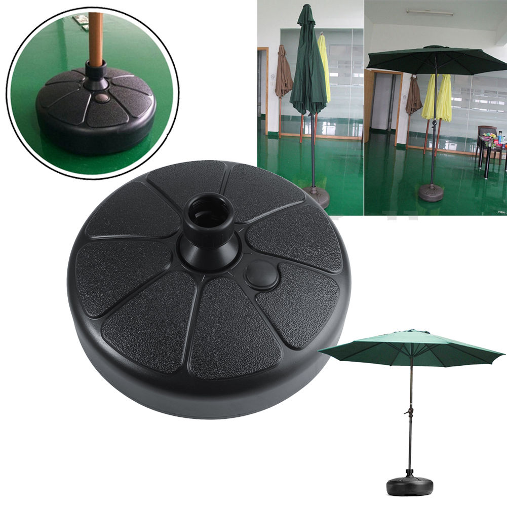 Umbrella Stand Water Filled: Plastic Outdoor Patio Yard Garden Water Sand Fillable