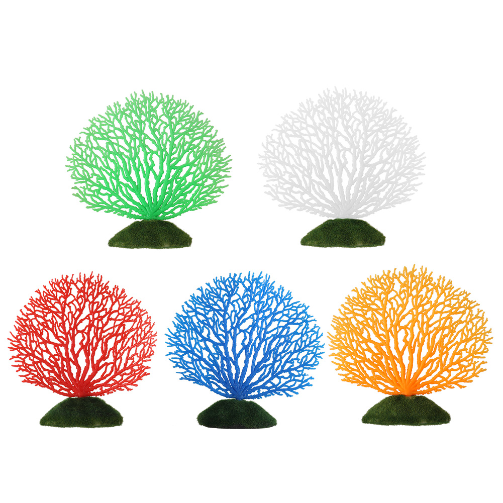 Artificial fake coral aquarium fish tank plastic plant for Artificial grass decoration