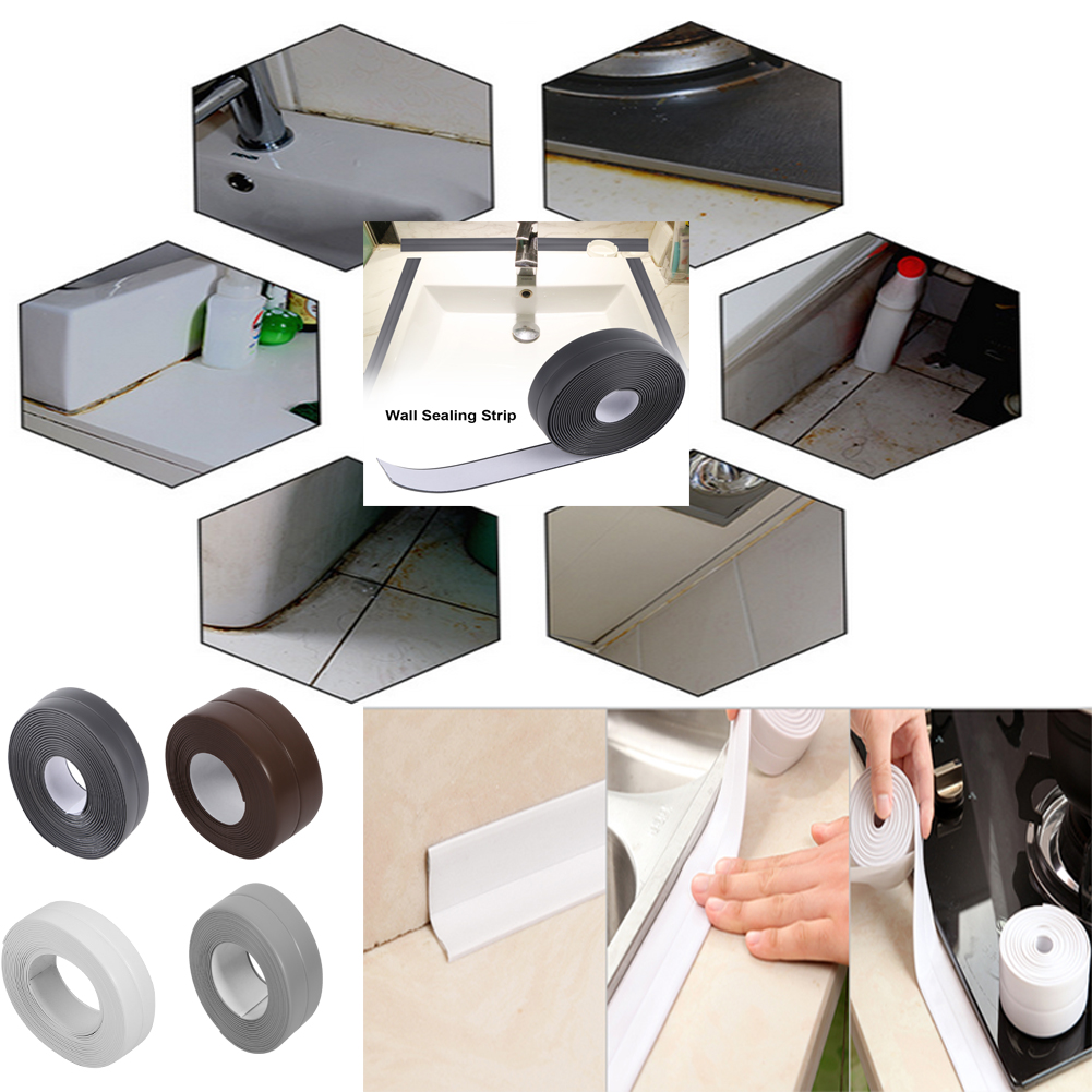 Wall Stickers 3 Colors 3.2m Length Self Adhesive Bath And Wall Kitchen Bath Sealing Strip Sealing Strip Sink Basin Edge Trim Kitchen New Wall To Suit The PeopleS Convenience