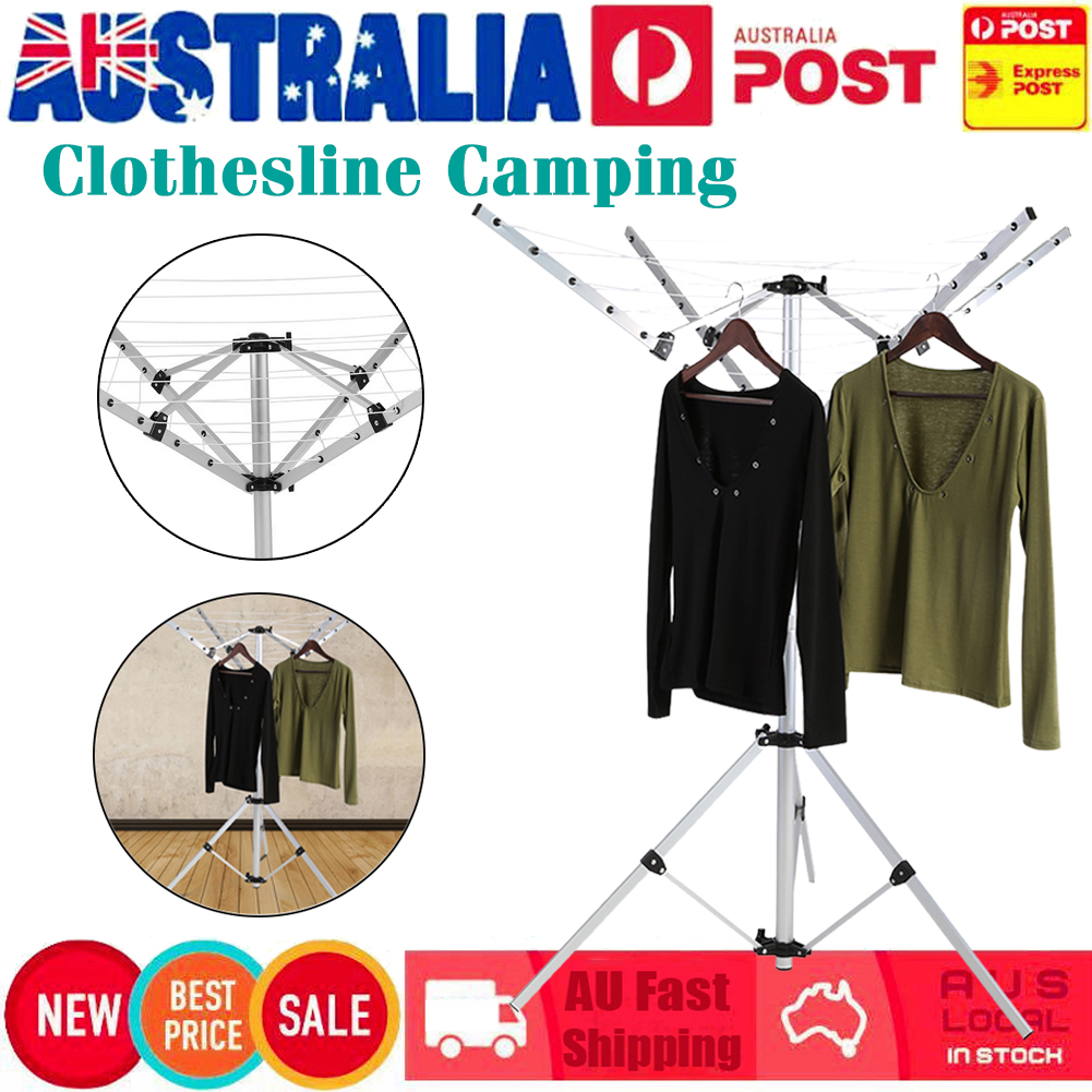 Portable Clothes Rack Camping Dryer Foldable Folding Clothesline