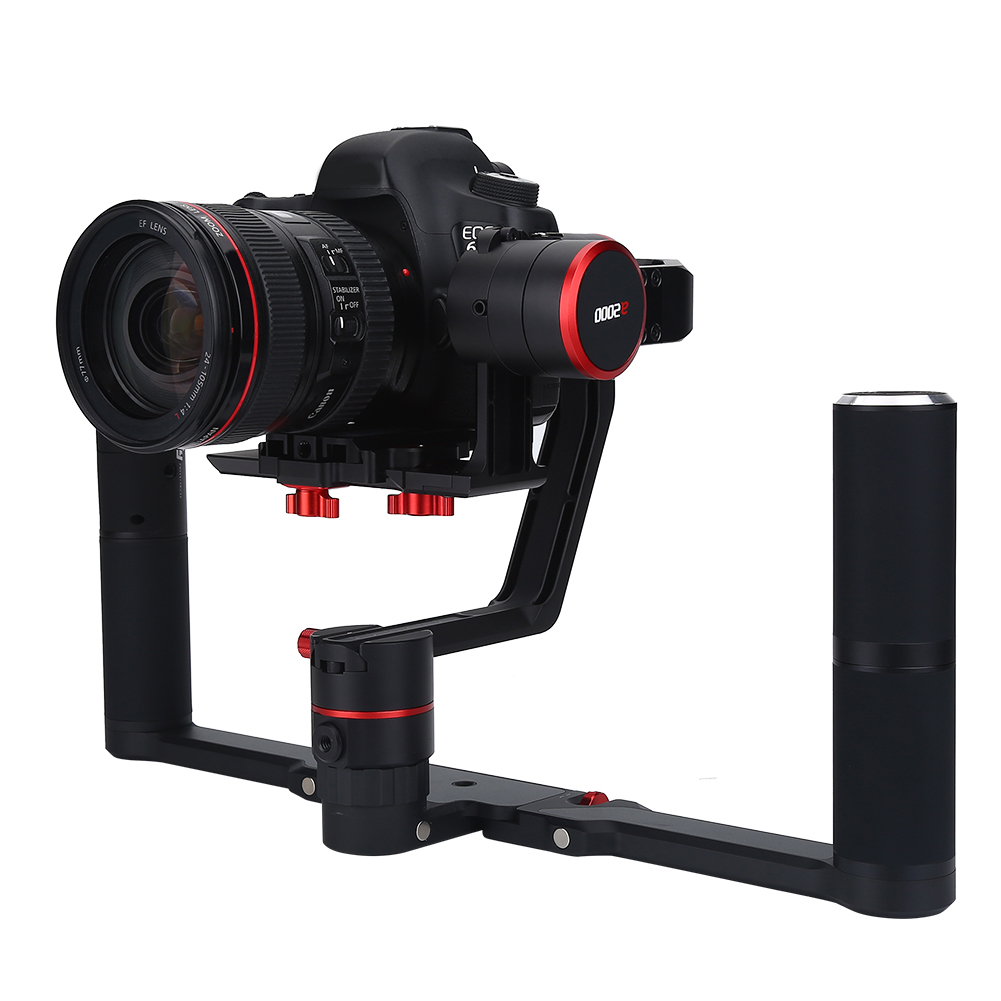 Feiyu A200 Dual Hand Foldable Gimbal Handheld Stabilizers For Dslr Cameras Co Ebay