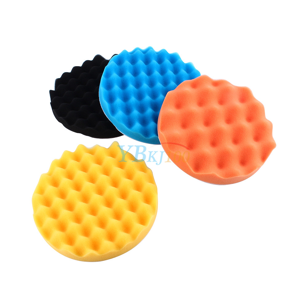 4Pcs 3/4/5/6/7 Inch Car Polishing Sponge Foam Pad Buffing