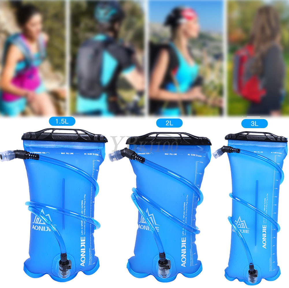 AONIJIE 1.5L/2L/3L Foldable TPU Water Bag Hydration Bladder For Outdoor Sport Running Camping ...