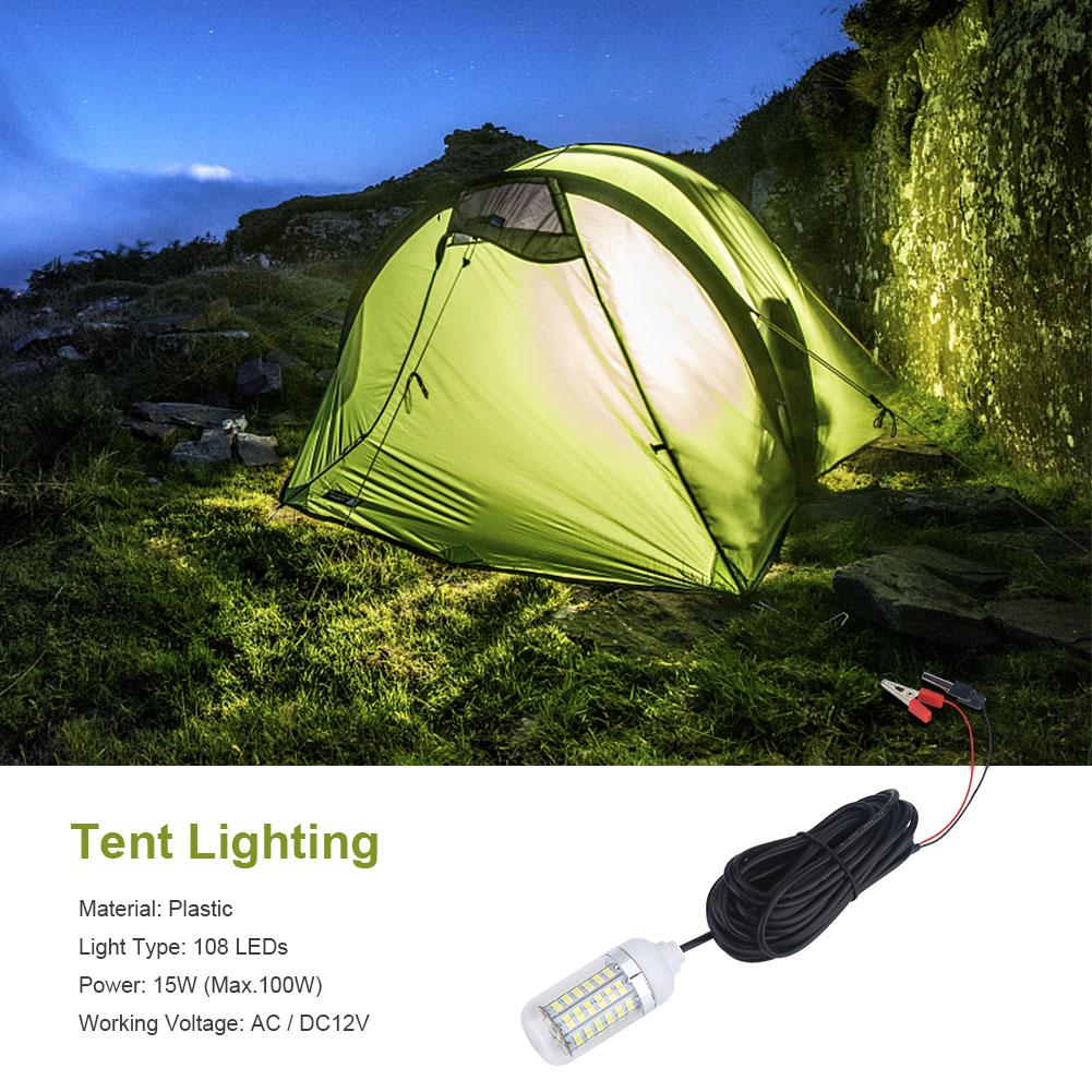 12V 15W Underwater LED Submersible Fishing Light Night Boat L& Waterproof ES  sc 1 st  eBay : underwater tent - memphite.com
