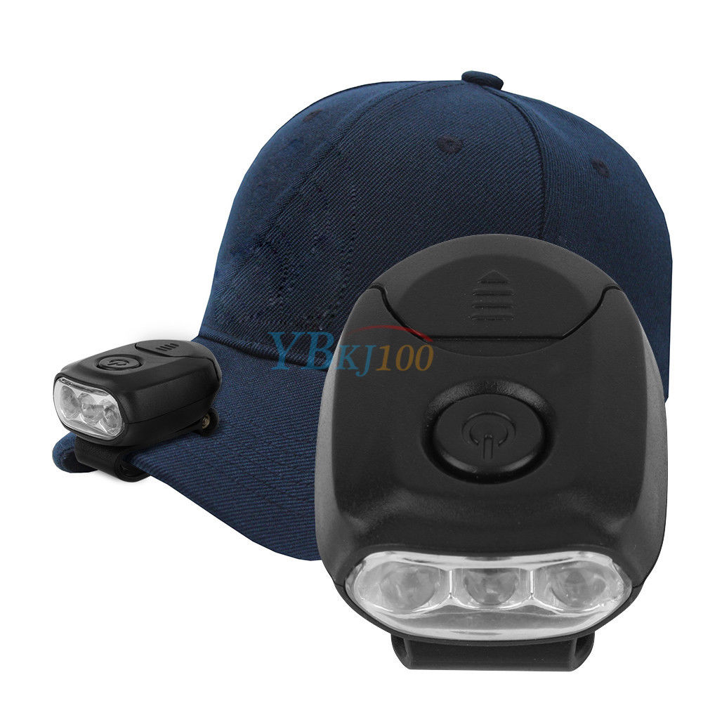 Portable LED Cap Light Pocket Hat Brim Clip on Lamp Outdoor Camping Fishing RC