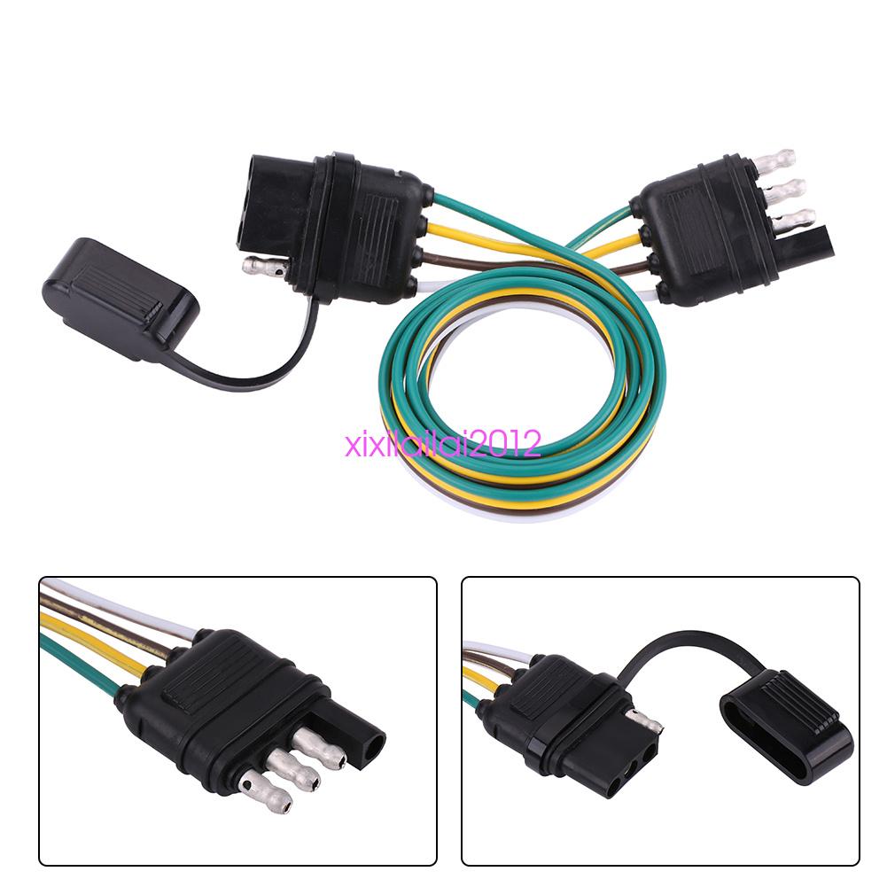 6V/12V/24V 4 Pin Flat Trailer Towbar Towing Plug Socket Wiring ...