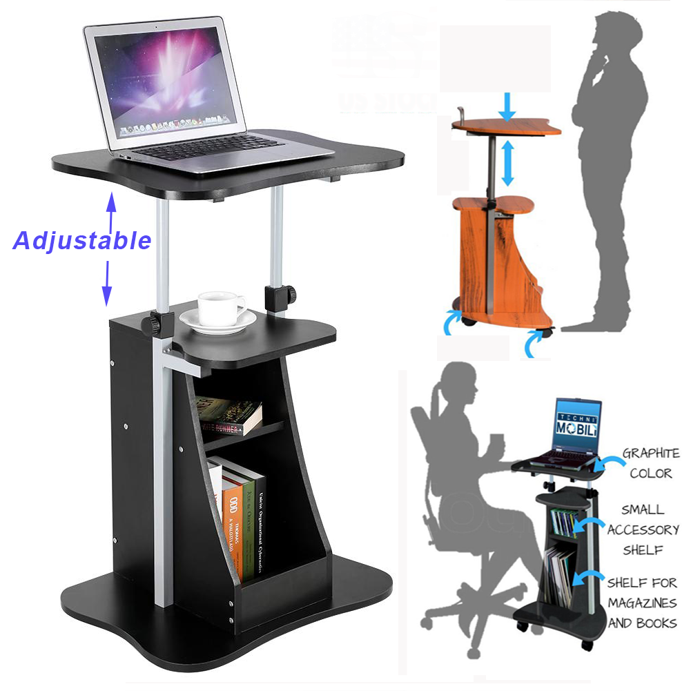 Adjustable laptop computer table standing desk rolling sofa bedside adjustable laptop computer table standing desk rolling sofa bedside cart storage watchthetrailerfo