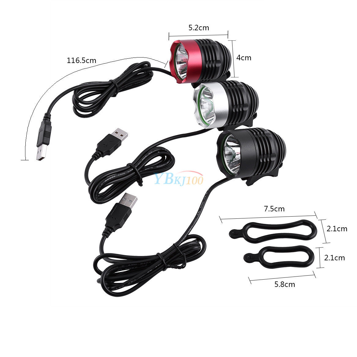 1200LM T6 DC LED Cycle Bike Front Lamp Bicycle Light Headlamp Headlight 3 Mode A