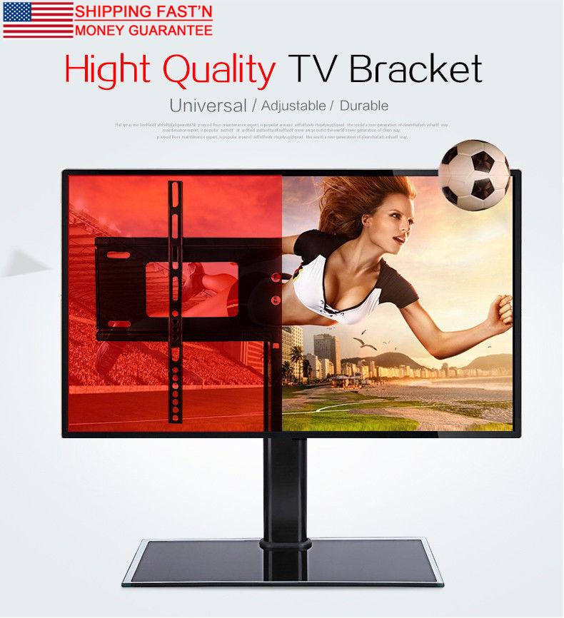 Adjustable Universal TV Stand Pedestal Base Mount Flat Screen TV 2 Sizes US