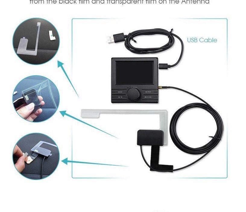 universal bluetooth car dab dab radio receiver fm. Black Bedroom Furniture Sets. Home Design Ideas