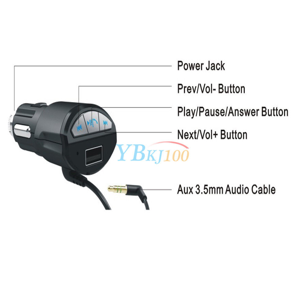 a2dp bluetooth aux musik adapter usb kfz. Black Bedroom Furniture Sets. Home Design Ideas