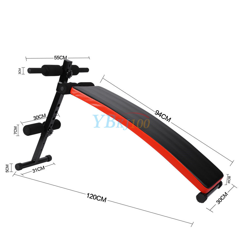 Adjustable workout sit up bench home gym abs exercise crunch