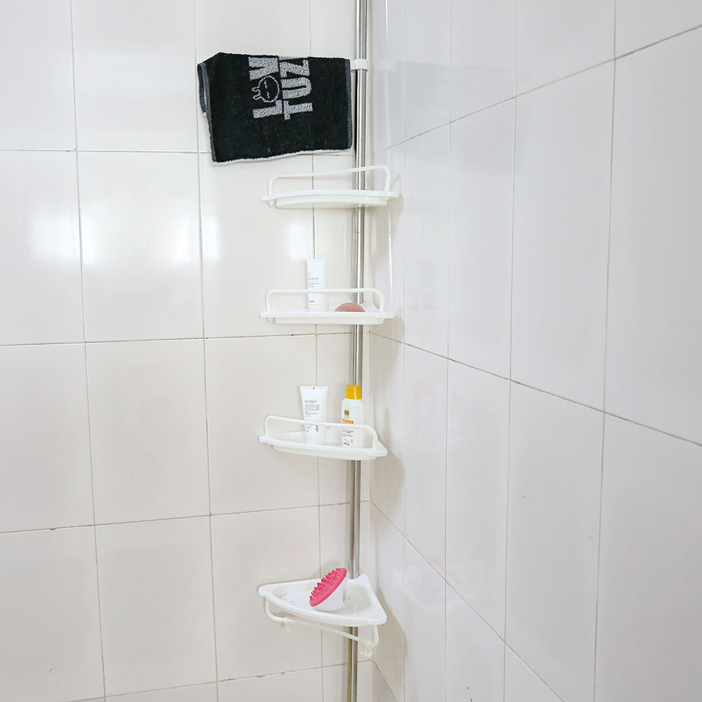 Shower Corner Shelf Chrome Caddy Bathroom Shelves ...