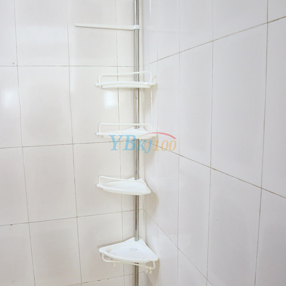 Bathroom Shower Corner Shelves: Shower Corner Shelf Chrome Caddy Bathroom Shelves