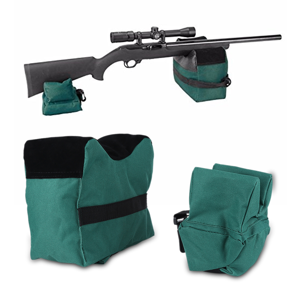 Shooting Range Sand Bag Set Rifle Gun Bench Rest Stand