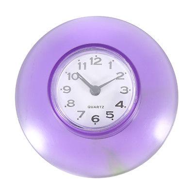 Mini horloge etanche avec ventouse salle de bain douche toilettes murale ebay - Horloge de salle de bain ventouse ...
