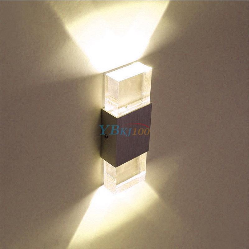 Modern Aluminum Square LED Wall Light Porch Bar Spot Lamp ...
