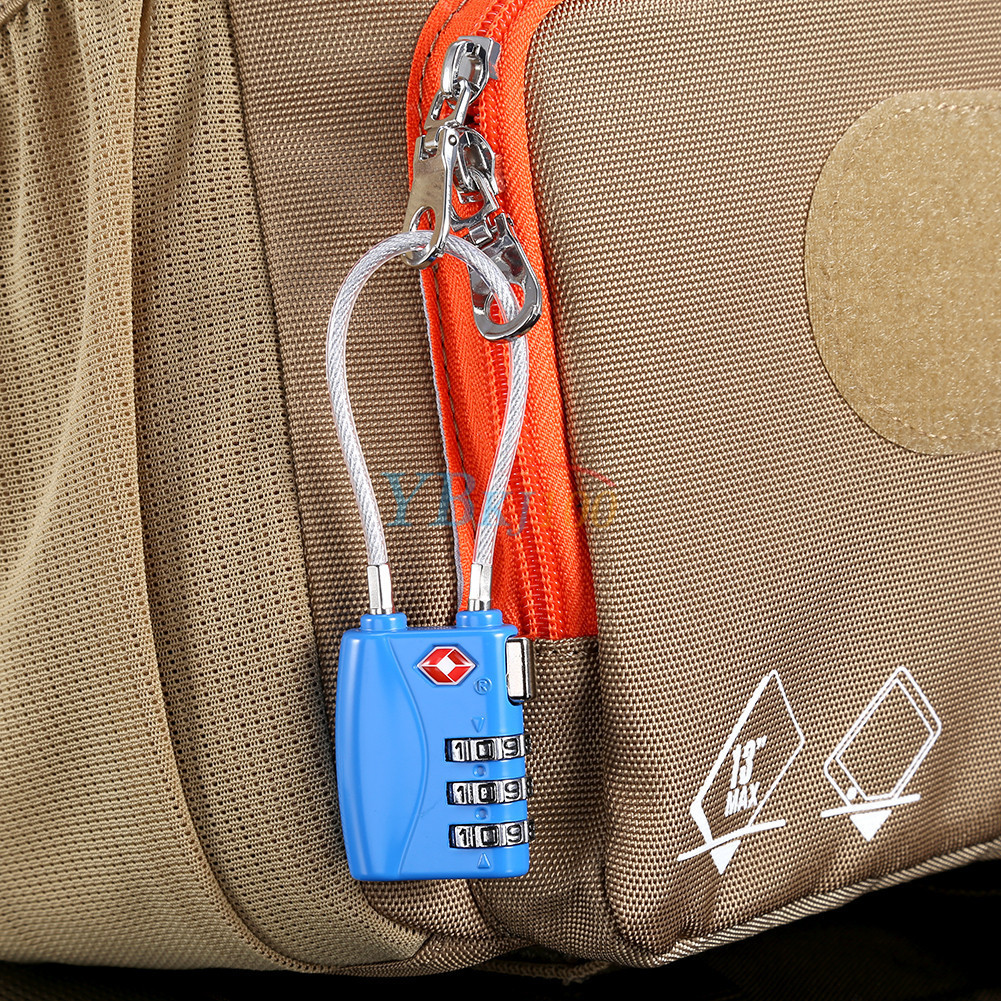 how to work a tsa lock and cable