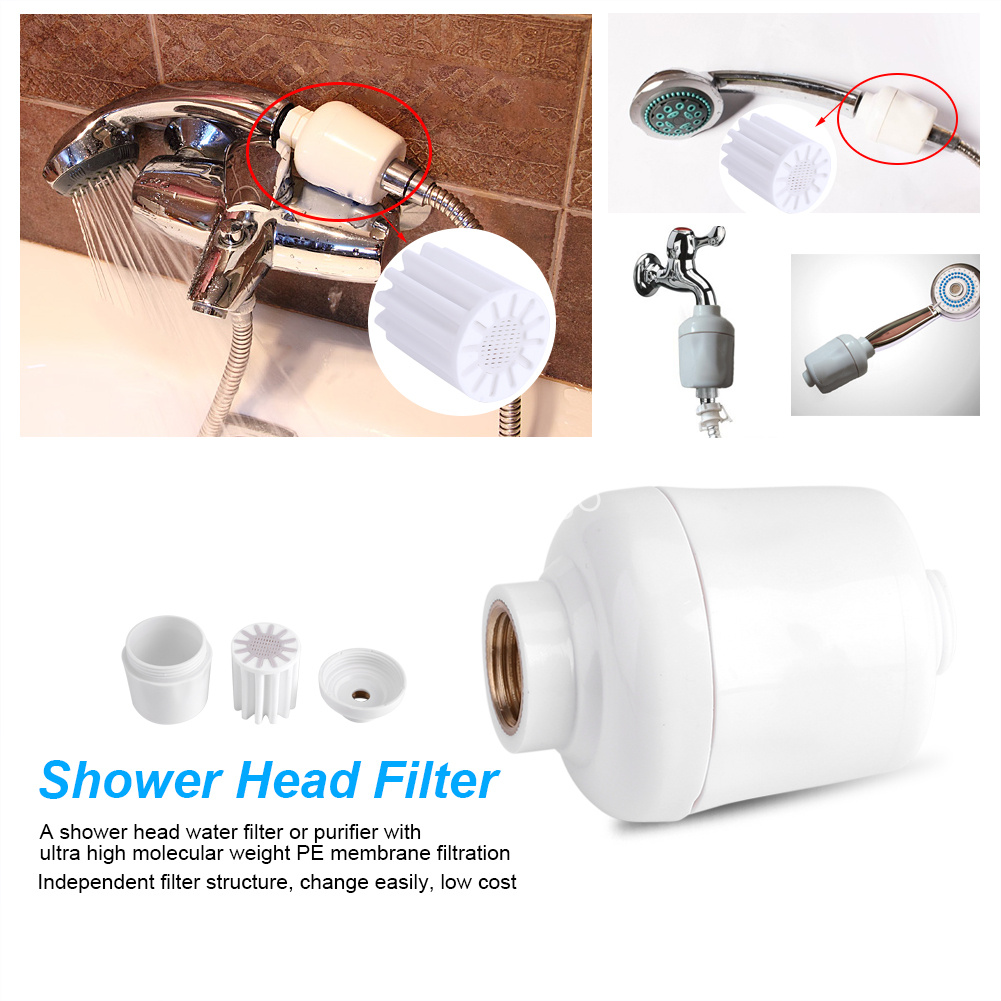 In-Line Softener Head Filter Carbon Water Remove Clean Tap Shower ...