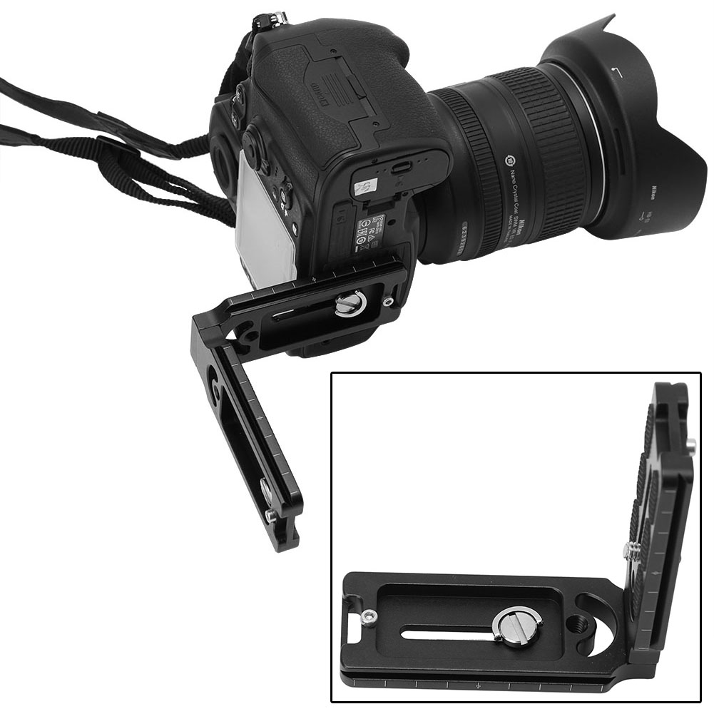 L-Bracket Tripod Head Quick Release Plate Holder Mount For CamFi Controller SS