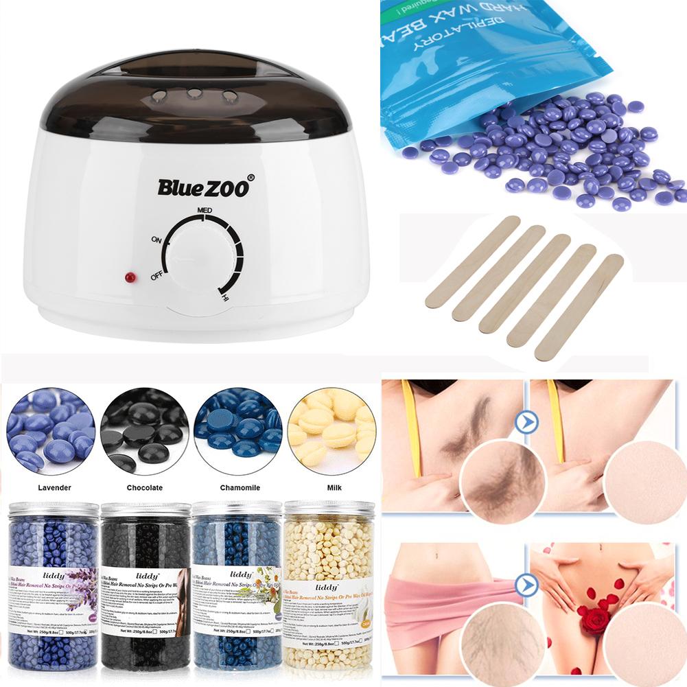 Wax kit heater pot salon waxing hair removal 100 500g for Handy heater italia opinioni