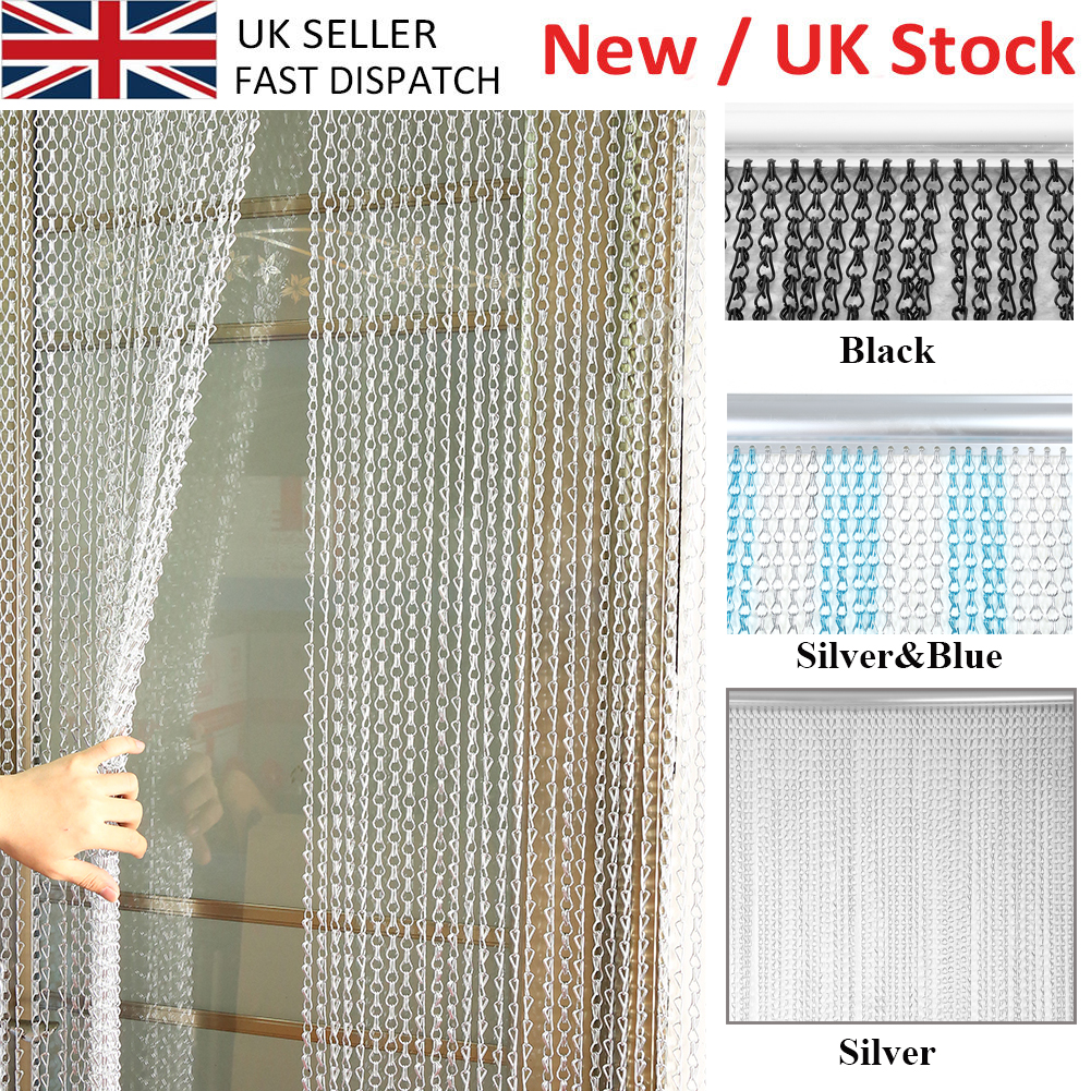 Aluminium Chain Link Insect Fly Door Curtain Blinds Screen Strip