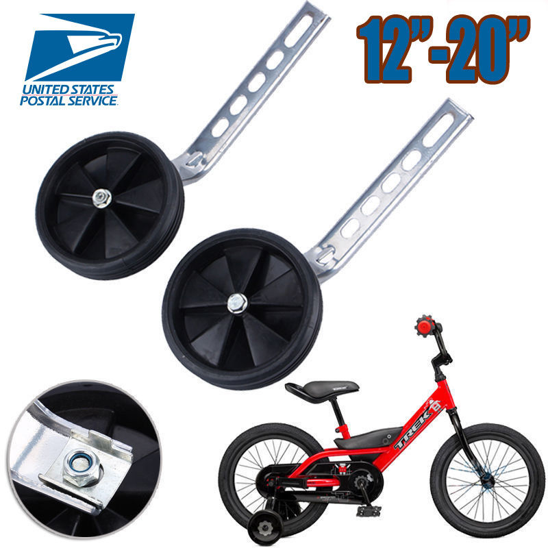 Magideal Kids Children Bicycle Bike Cycle Training Wheels Stabilisers 12 20 Inch With Led Flashing Light