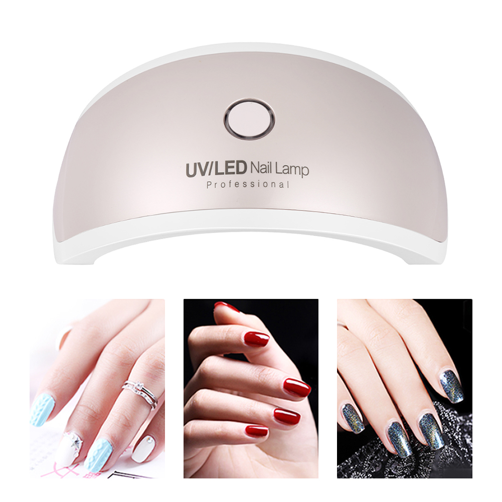 Professional LED UV Nail Dryer Gel Polish Lamp Light Curing Manicure Machine 9W