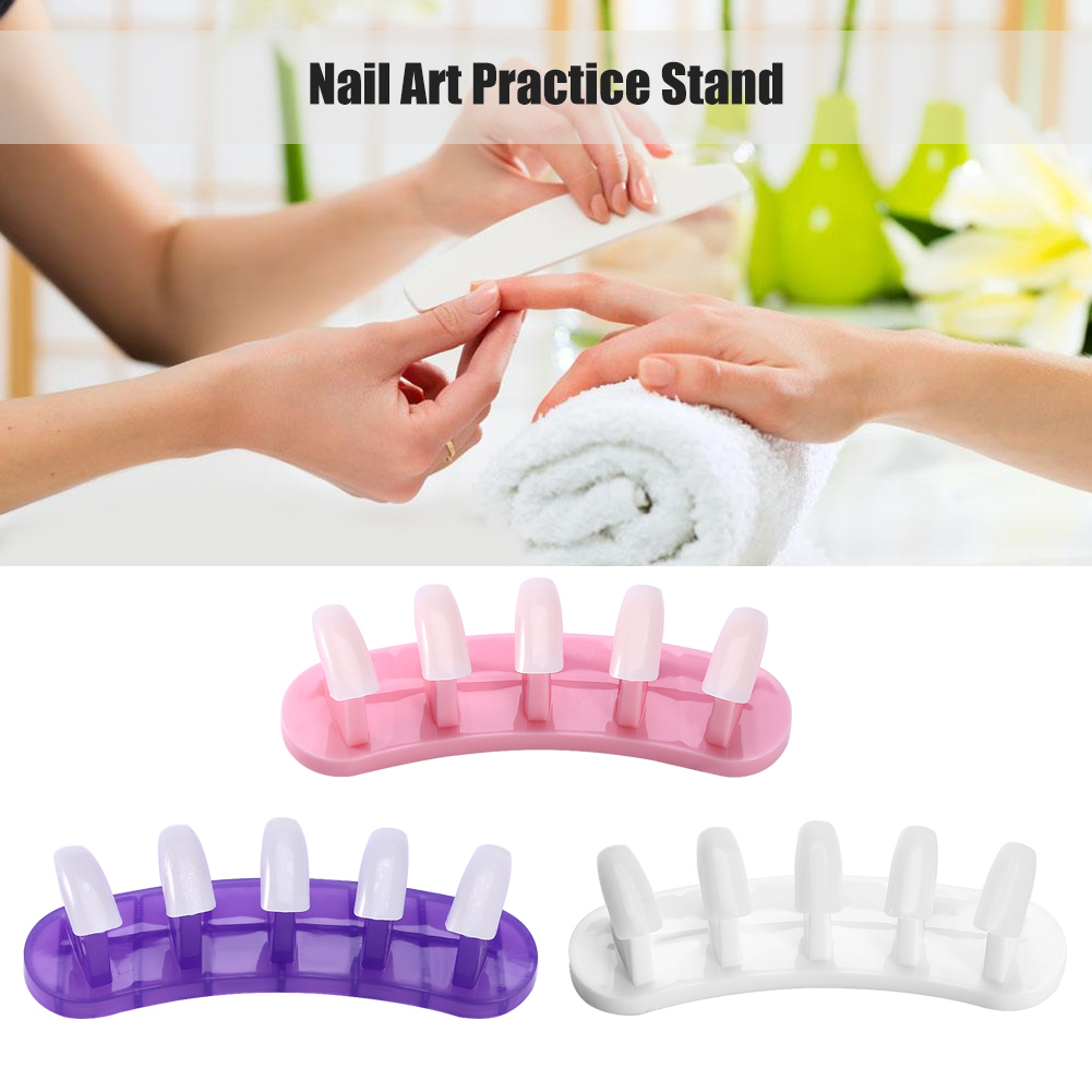 Removable Practice Nail Art Training Holder Stand + 100pcs Practice ...