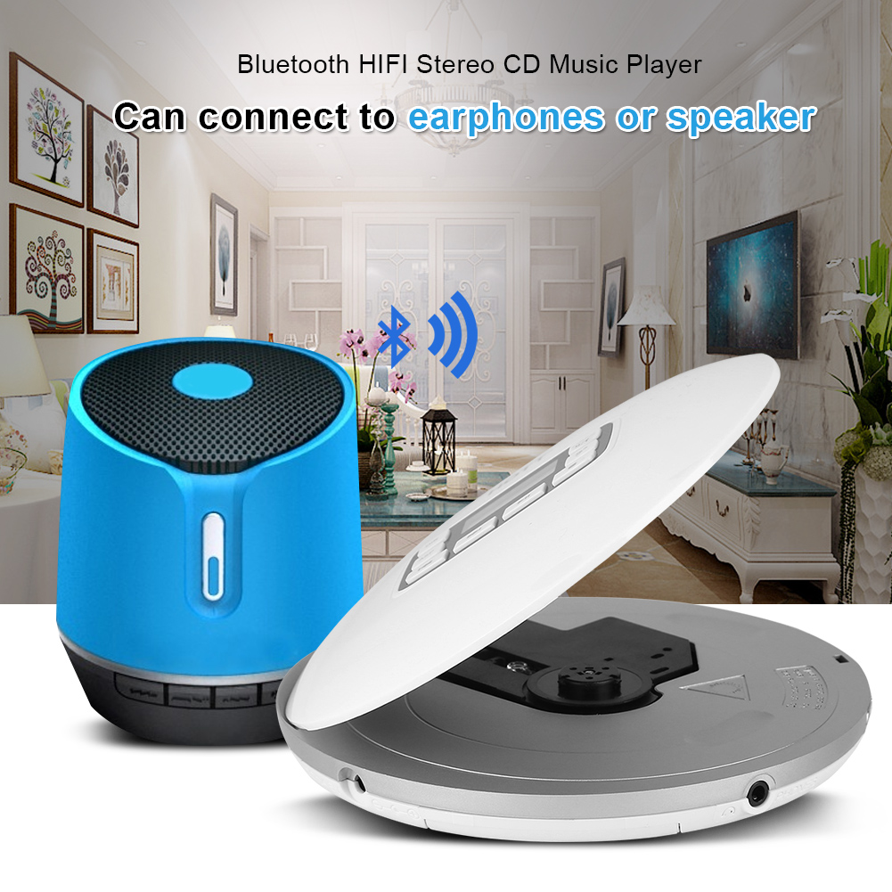 portable bluetooth hifi stereo bass walkman cd music. Black Bedroom Furniture Sets. Home Design Ideas