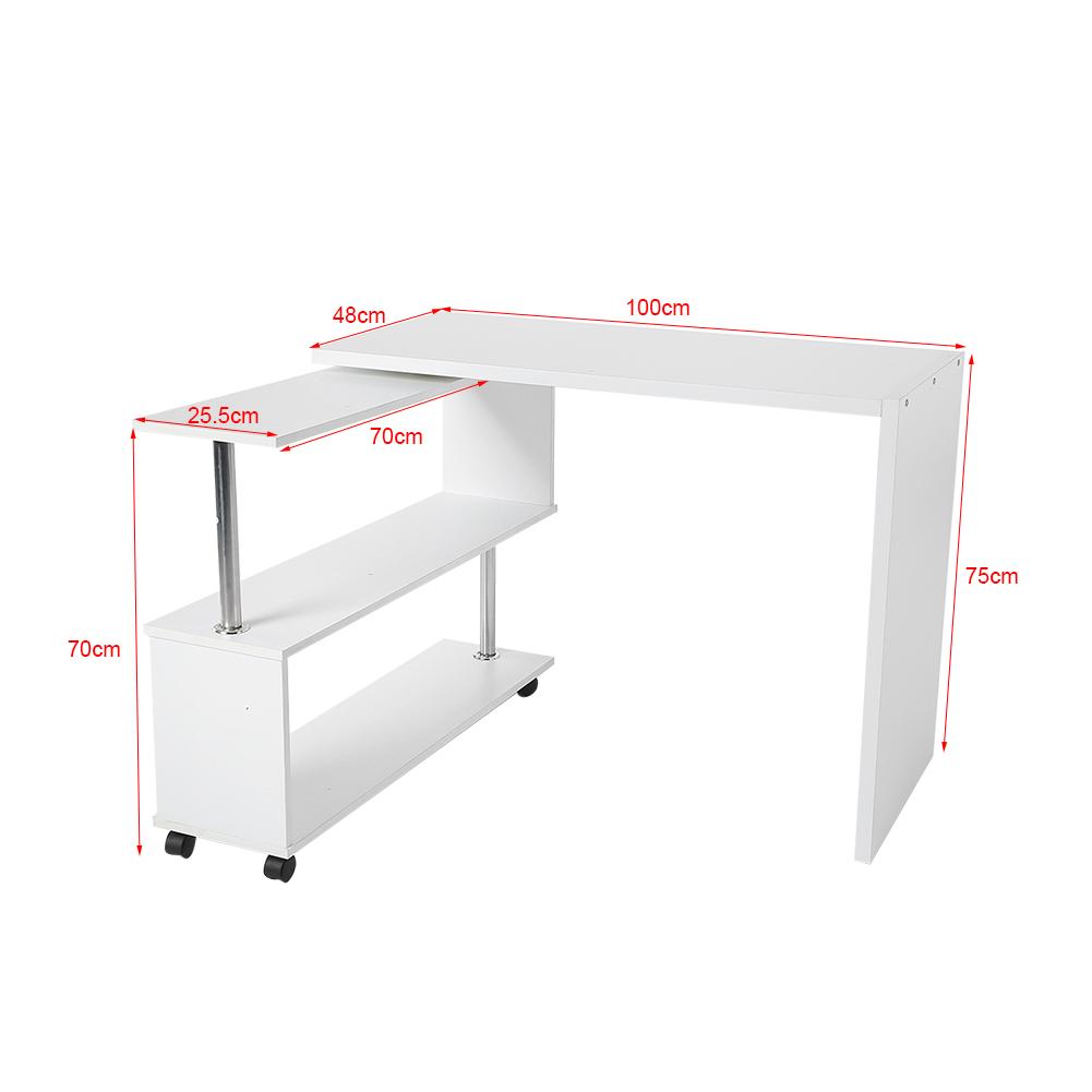 360 drehbar tisch computertisch arbeitstisch schreibtisch for Schreibtisch drehbar