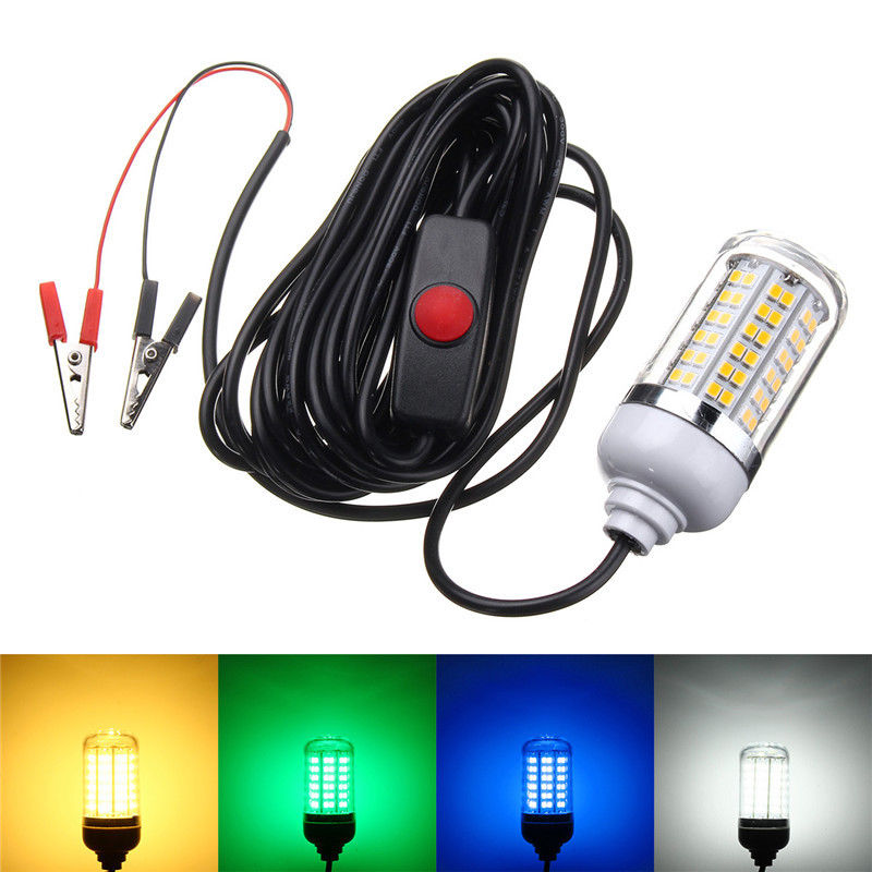 15w 12v led underwater submersible night fishing light for Fishing light attractor
