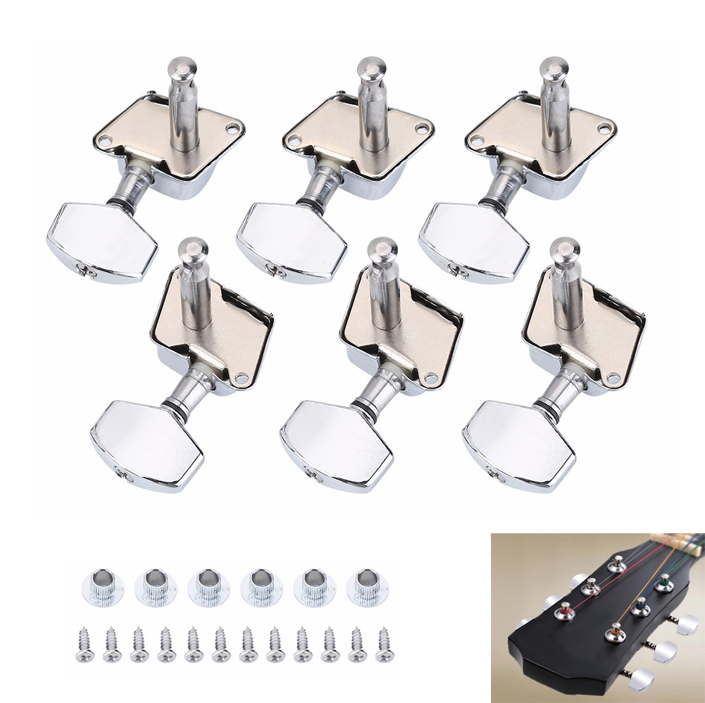 6x stable acoustic guitar string semiclosed tuning pegs tuners machine heads set 826965372347 ebay. Black Bedroom Furniture Sets. Home Design Ideas