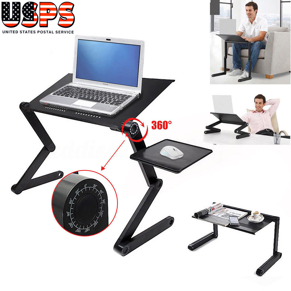 bed portable tray laptop table heat product computer sofa adjustable dissipation desk foldable black stand for