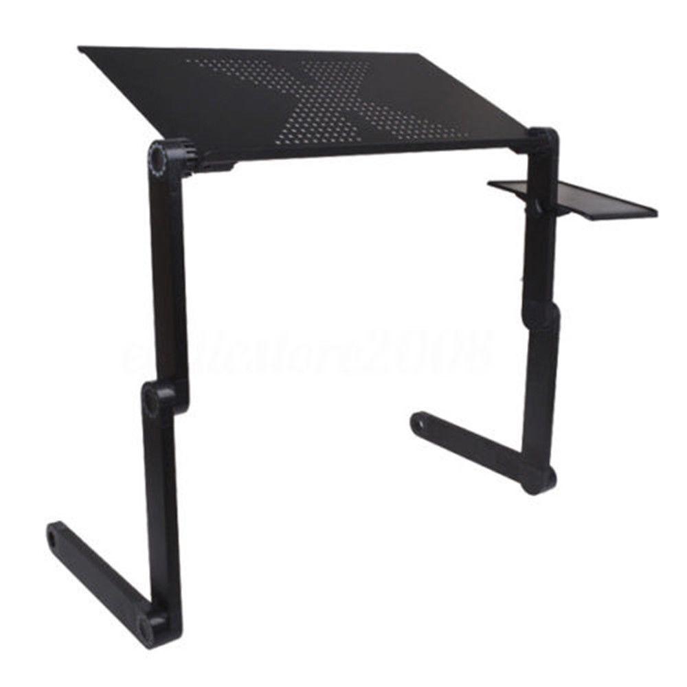 Black 360 176 Adjustable Folding Laptop Table Lap Desk Bed